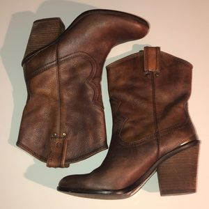 Lucky Brand Lk-Elle Brown Leather Boots 8 1/2M